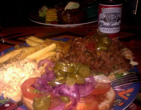 Pulled beef hamburger (19,90€)